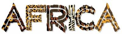 Sticker Afrika Patchwork mit Stoff und Haut-Texturen