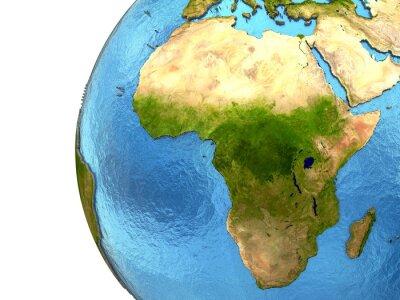Sticker Afrikanischen Kontinent auf der Erde