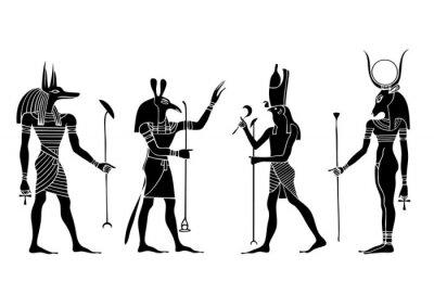 Ägyptische Götter und Göttin - Vektor