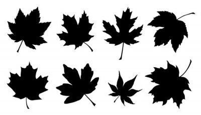 Sticker Ahornblatt Silhouetten