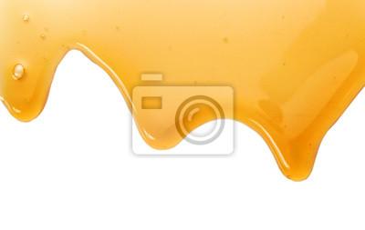 Ahornsirup lokalisiert auf weißem Hintergrund
