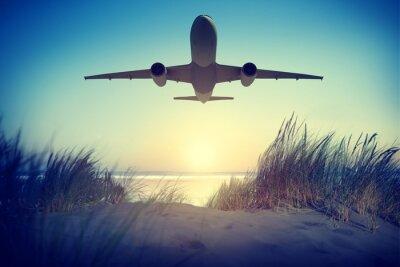 Sticker Airplane Travel Destination Outdoors Take off Concept
