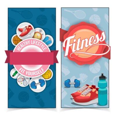 Sticker Aktiver Lebensstil Banner.