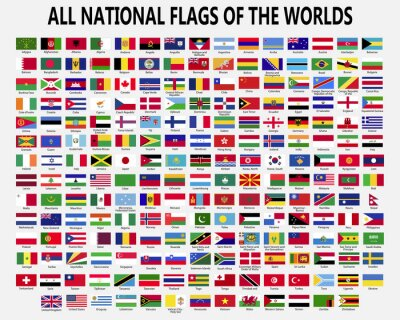 Sticker All national flags countries of the world.