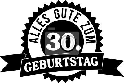 Alles Gute Zum 30 Geburtstag Notebook Sticker Wandsticker Gluck