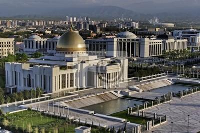 Allgemeine Ansichten des Präsidenten Palastes. Aschgabat. Turkmenistan.