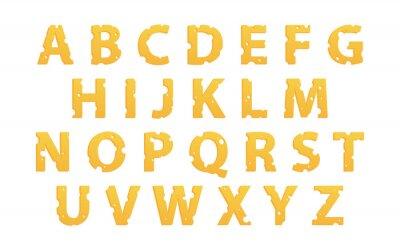 Sticker Alphabet gemacht von Käse