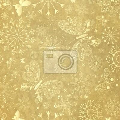 Alte gelbe Weihnachtspapier