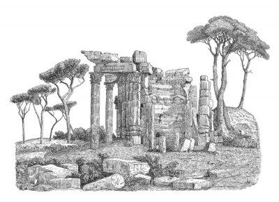 Sticker Alte griechische Spalte Illustration