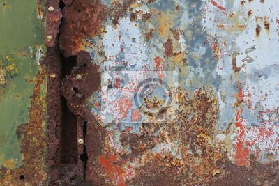 Alte rostige Metall-Oberfläche mit Nieten