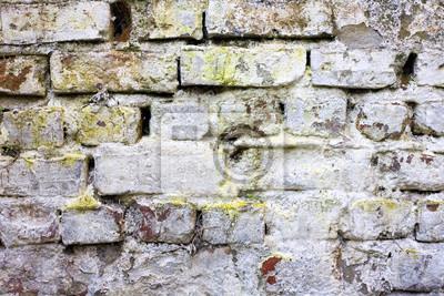 Alte rustikale geformte Mauer
