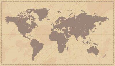 Sticker Alte Weinlese-Weltkarte