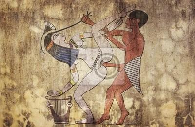 alten Ägypten - erotische Zeichnung aussieht fresco