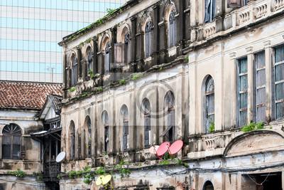 Alten europäischen Stil Gebäude Fassade