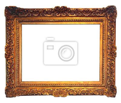 alten goldenen Rahmen mit leeren Grunge-Leinwand 2