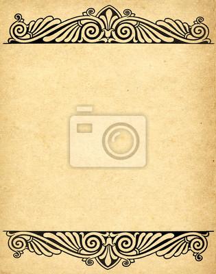 alten Grunge Papier Hintergrund mit viktorianischen Stil