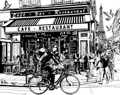 Sticker Altes Kaffeehaus in Paris