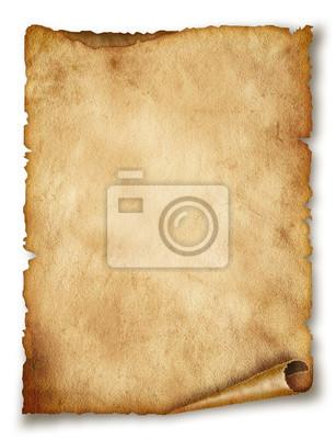 Altes Papier blättern isoliert auf weiß