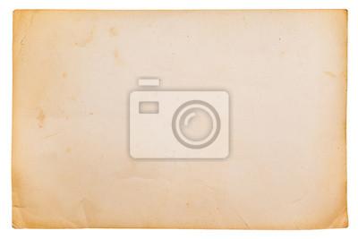 Altes Papier isoliert auf weißem Hintergrund