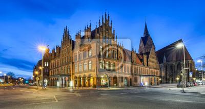 Altes Rathaus und Marktkirche in Hannover, Deutschland