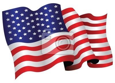 Sticker American Flag