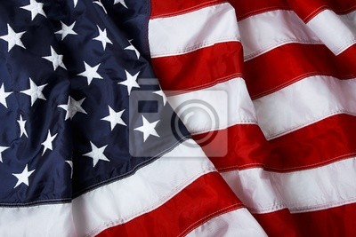 Sticker American flag background - shot and lit in studio
