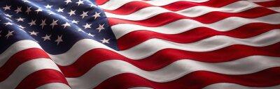 Sticker American Wave Flag