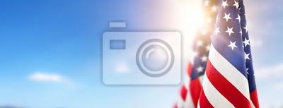 Sticker Amerikanische Flagge für Memorial Day, 4. Juli, Tag der Arbeit