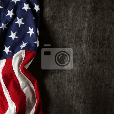 Sticker Amerikanische Flagge für Memorial Day oder 4. Juli