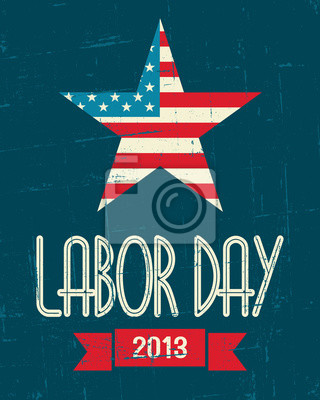 Amerikanischen Labor Day Poster