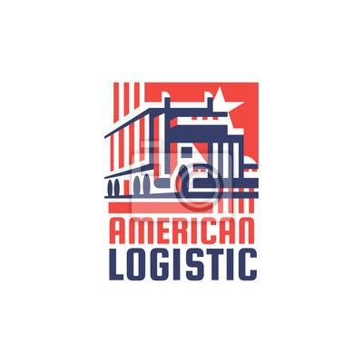 Amerikanisches Logistikunternehmen Logotype. Vektor.