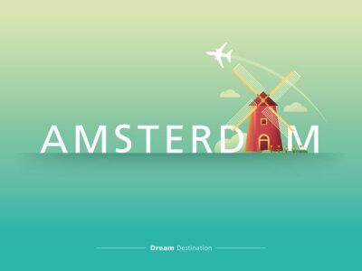 Sticker Amsterdam Typografie