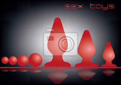 Anal Plug, Sexspielzeug, Rote Dildos