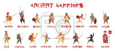 Sticker Ancient Warriors Set