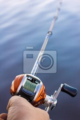 Angler Nutzung Multiplikator Angelrolle