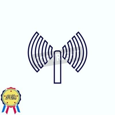 Antennensymbol notebook-sticker • wandsticker Wireless, Draht, Welle ...