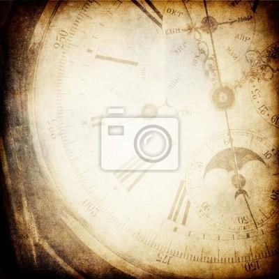 Antik Taschenuhr Uhr Gesicht Hintergrund.