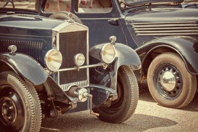 Sticker Antike autos, vintage Prozess