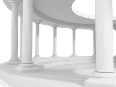 Sticker Antiken Stil Spalte Architektur-Design-Hintergrund