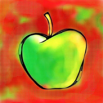 Sticker Apple Painting