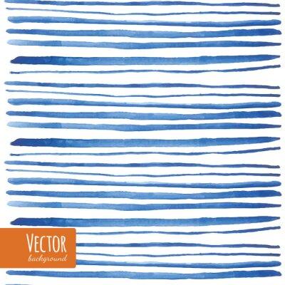 Sticker Aquarell blauen Streifen im Vektor.