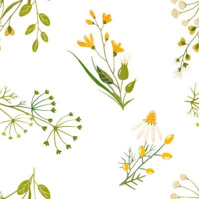 Aquarell Blumenvektormuster