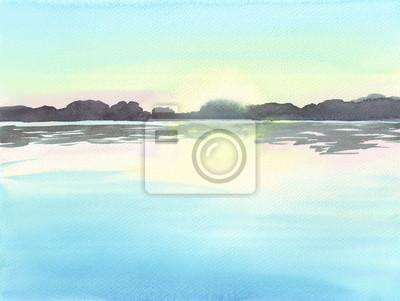Aquarell Landschaft