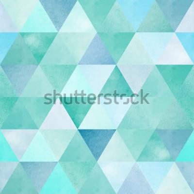 Sticker Aquarell Musterdesign mit Vintage geometrischen Dreieck