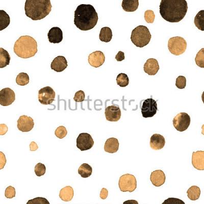 Sticker Aquarell Tupfen nahtlose Muster. Textilien, Fliesen, Tapeten, Verpackungsdruck. Postkarte, Banner oder abstrakten Hintergrund. wiederholtes Muster mit farbigen Punkten unregelmäßiger Form