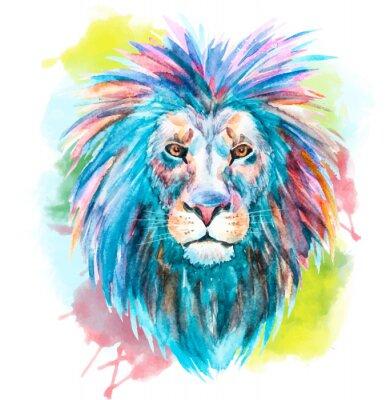 Sticker Aquarell Vektor Löwe