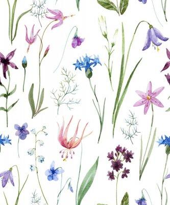 Sticker Aquarell Wildblumen Muster
