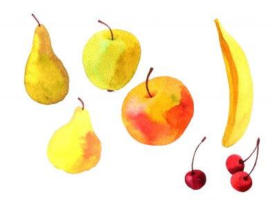 Sticker Aquarell Zeichnung Früchte