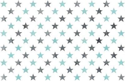 Sticker Aquarellmuster der Sterne.