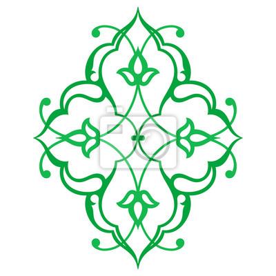 arabische orientalische ornament blumenmuster motiv. Black Bedroom Furniture Sets. Home Design Ideas